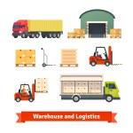 Постер, плакат: Warehouse inventory logistics truck