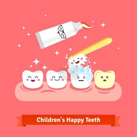 Tooth hygiene icon set