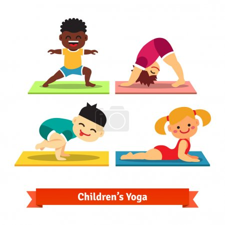 Kids doing yoga poses