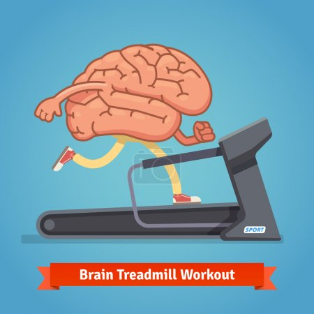 Brain working out on treadmill