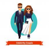 Man and woman stylish hollywood stars