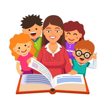Teacher reading big book