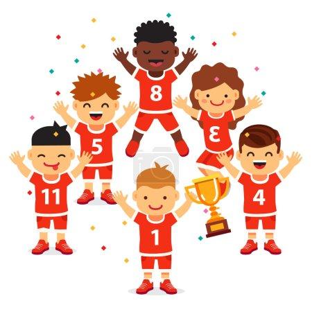 Team wins a golden cup