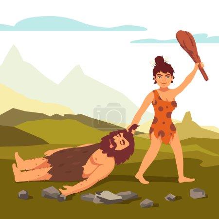 Stone age Woman power!