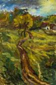 Beautiful Original Oil Painting autumn landscape On Canvas