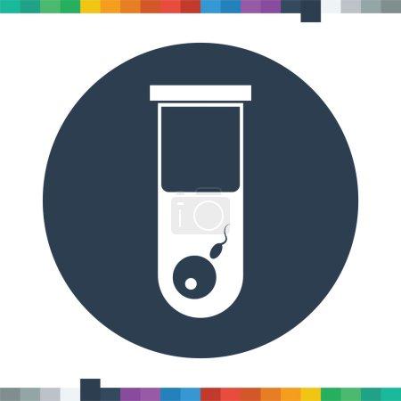 Illustration pour Icône d'insémination artificielle . - image libre de droit