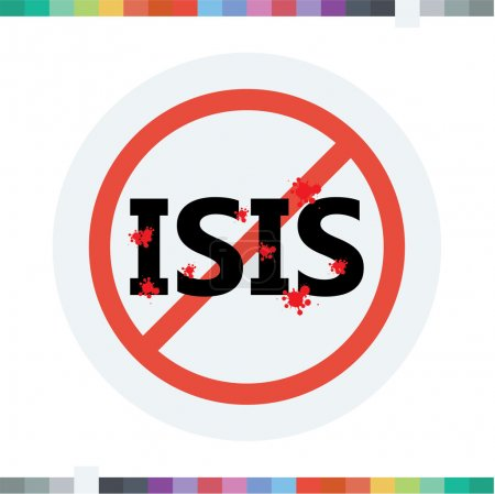 Stop ISIS icon....