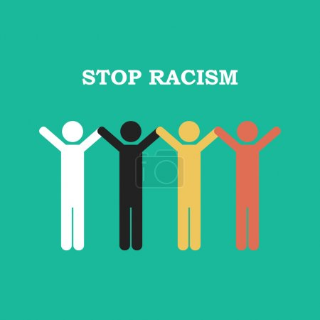 Stop racism icon. Together against racism.
