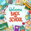Back To School Design With Flat Elements...