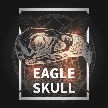 Hipster Design With Eagle Skull