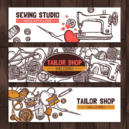 Sewing Studio And Tailor Shop Design.