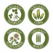 Badges vegetarian plants