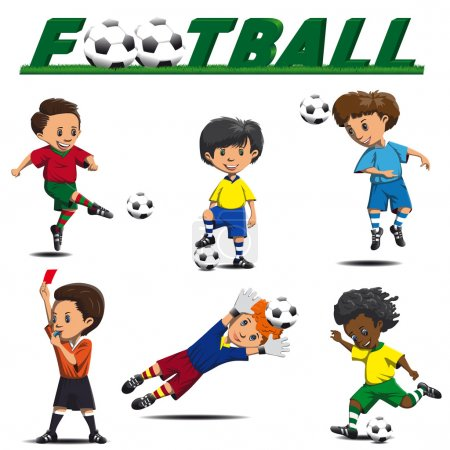 soccer and football players from different teams