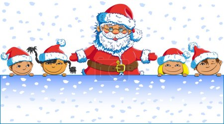 Santa Claus children Merry Christmas