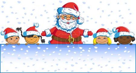 Merry Christmas Santa Claus children