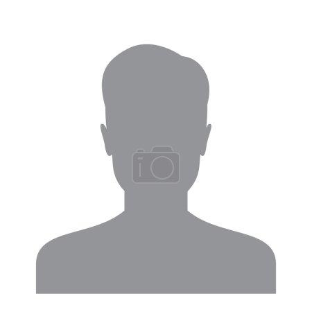 Illustration pour Icône de l'utilisateur masculin isolé sur un fond blanc. Avatar de compte pour le web. Photo de profil utilisateur. Silhouette masculine inconnue - image libre de droit