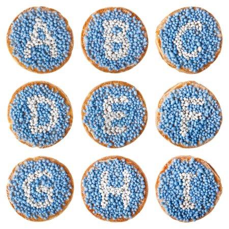 Dutch food: 'beschuit met muisjes' alphabet, A-I