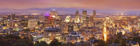 Skyline of Montreal, Quebec, Canada from Mount Royal at night