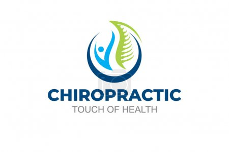 Illustration for Illustration graphic vector of chiropractic treatments for business logo design template - Royalty Free Image