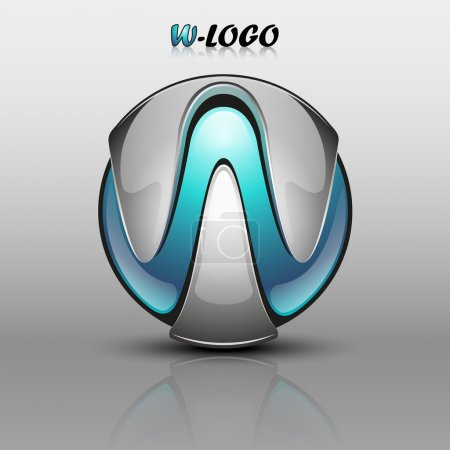 3D Logo - Letter W (blue)