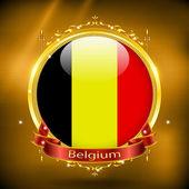 Flag of Belgium in gold