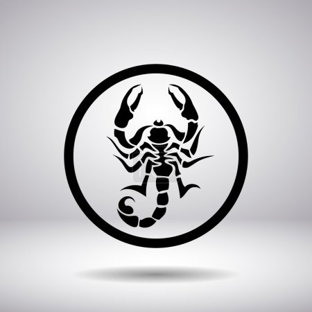 Silhouette of a scorpion in a circle