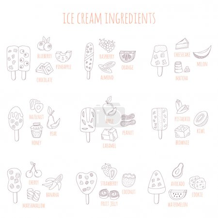 doodle ice cram and ingredients