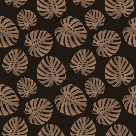Tropical leaves floral pattern, in Hawaiian style