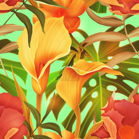 flower pattern with lillies