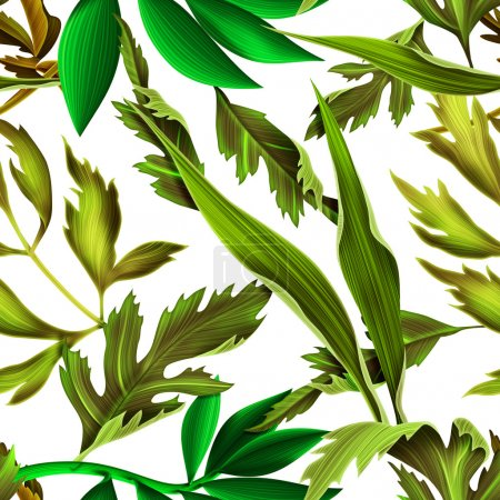 Photo for Tropical leaves stylish fashion pattern isolated on white - Royalty Free Image