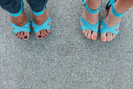 Female legs with a stylish sandals