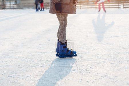 Woman skating at the rink