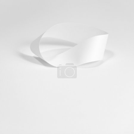 White curved paper