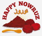 Dried sumac and fruits symbolizing the sunrise in the persian tradition of Haft Sin in nowruz holiday