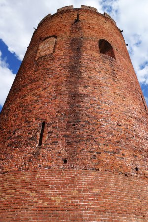 medieval tower against blue sky