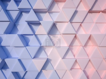 Photo for Serenity Blue and Rose Quartz  abstract 3d triangle background - Royalty Free Image
