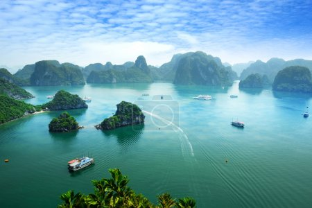 Photo for Halong Bay in Vietnam. Unesco World Heritage Site. Most popular place in Vietnam. - Royalty Free Image