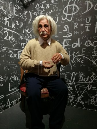 Albert Einstein wax statue