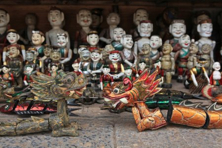 The Vietnamese traditional water puppets