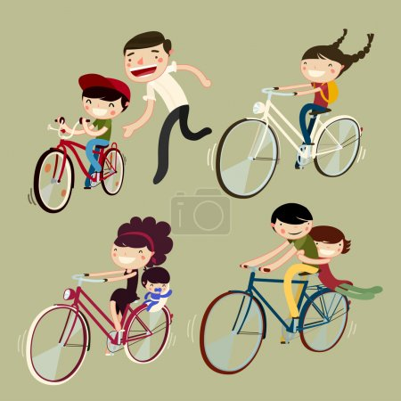 Set of families on bicycles