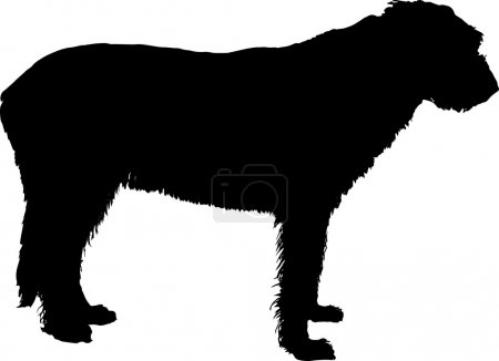 irish wolfhound vector silhouette