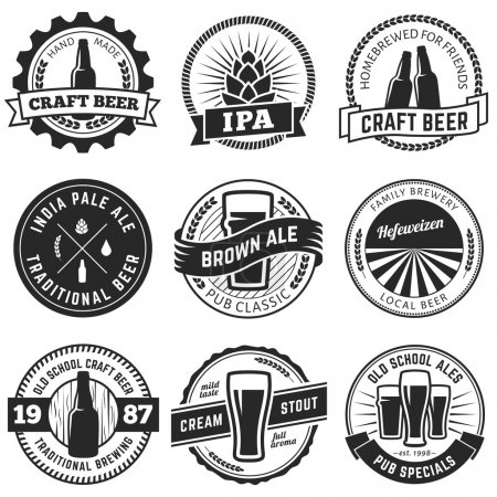 Craft beer labels.