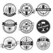 Craft beer labels