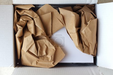 opened parcel and gift card inside