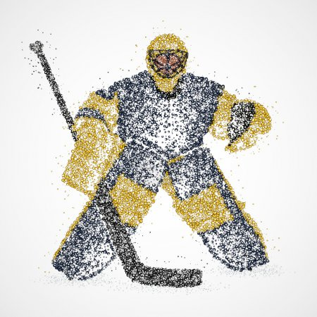 Photo for Abstract hockey goalie of colorful circles. Photo illustration. - Royalty Free Image
