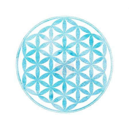 Watercolor sacred geometry