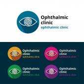 Logo for ophthalmic clinic Set Ophthalmology