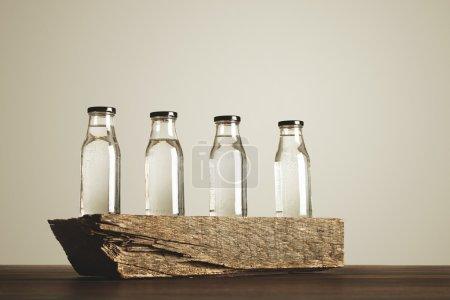 clear transparent glass bottles