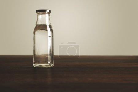 Clear transparent glass bottle