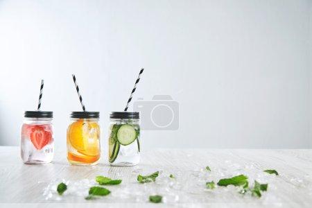 rustic jars with lemonades